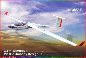 Модель р/у 2.4GHz планера VolantexRC ASW28 (TW-759-1) 2600мм RTF-World-Hobbies