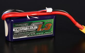 Аккумулятор Turnigy nano-tech 1300mah 11.1в 25~50C Lipo Pack