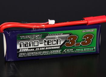 Turnigy nano-tech 3300mah 2S 25~50C Lipo Pack -WORLD-HOBBIES.com.ua