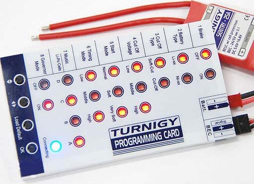 Програматор для регуляторов бесколлекторных двигателей, TURNIGY (BESC)